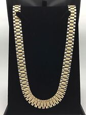 "Men's 10K Solid Yellow Gold Watch Link Chain 26"" Necklace 52.4 g,12 mm Jewelry"