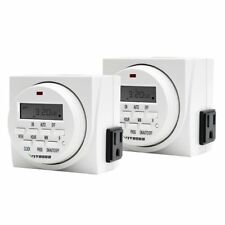 VIVOSUN 2 Packs Dual Outlet Digital Program Timer 7-Day On/Off Switch