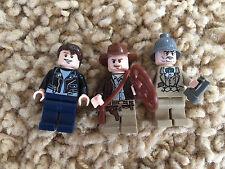 Lego Indiana Jones Minfigures Mutt Williams Henry Sr. Jones Lot 2 7623 7622 7198