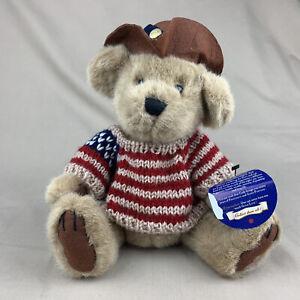 "Cowboy Western Teddy Bear Plush 10"" CODY Brass Button Pickford Bears 1996"