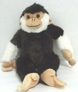 "F-A-O Schwarz Fifth Avenue Brown & White Monkey Plushed Stuffed 15"" RARE"