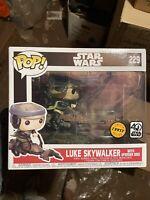 Funko Pop! Star Wars #229 Luke Skywalker with Speeder Bike CHASE Vaulted Rare