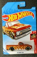 Hot Wheels Flames 1967 Chevy C10 Pick-up - Orange / White Flames