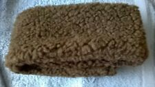 "Girth sleeve cover Brown Sherpa fleece 28"" L x 4 1/2"" W"