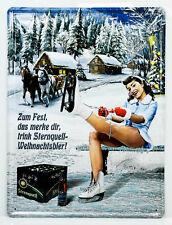 "Sternquell Pilsener, 3D Blechschild, Werbeschild""Weihnachtsbier Ski Horizontal"""
