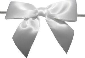 """Baywind LTD, 3"""" White Twist Tie Bows- packed 100 pieces"""