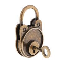 Vintage Antique Style Mini Bear Shape Padlocks Key Lock for Bags Bronze