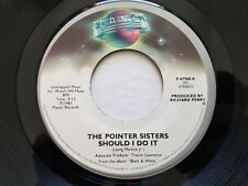 """POINTER SISTERS - Should I Do It / We're Gonna Make It 1981 R&B SOUL 7"""" Planet"""