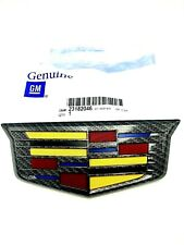 Cadillac Escalade Black Carbon Fiber Rear Trunk Emblem 2016-2019 Genuine GM OEM