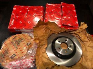 Rear Brake Rotors Discs For BMW 550i GT 750Li 750i 760Li Alpina B6 B7