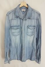 TOMMY HILFIGER CAMICIA JEANS VINTAGE  CASUAL SHIRT VINTAGE TOMMY HILFIGER