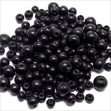 Lot de Perles en Bois Mélange Noir tailles 6 - 8 - 10mm 250pcs