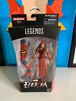 Amazing Spider-Man Marvel Legends Series 6-inch Elektra Action Figure BAF SP//dr