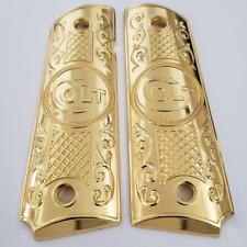 1911 Grips Gun Grips For Kimber / Colt / ROCK ISLAND Frames Gold Plated