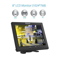 "Eyoyo 8"" Inch TFT HDMI Monitor 1024x768 VGA BNC AV Ypbpr Input + Mount For CCTV"