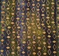 Green Tea Batik BTY Princess Mirah Design Bali Fabrics Olive Tan Navy Diamonds