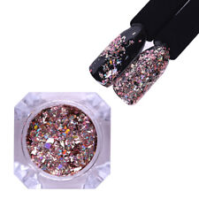 Holographic Nail Glitter Holo Flakes Rose Gold Sequins Decoration SD