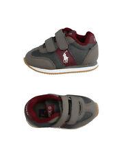Polo Ralph Lauren Sneakers Size 19 Uk 3.5 Us 4 Contrast Mesh Low Top Round Toe