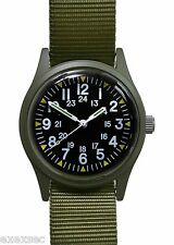 Military Industries Olive Drab 1960/70s Vietnam War Pattern Military Watch