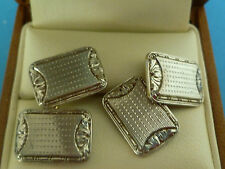 14k white and yellow gold Edwardian cufflinks 10.2 grams