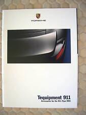PORSCHE 911 996 CARRERA TEQUIPMENT ACCESSORIES BROCHURE 2002 USA EDITION