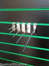 """10 X 4"""" Ganchos Clavijas único 100 mm Largo Cromo Clavijas Pin Brazo de panel de nueva"""
