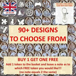 £1 Trolley Token Buddy Coin Acrylic - Buy 1 Get 1 FREE (Clear)