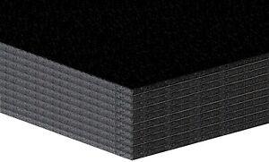 10 Bogen Leichtschaumplatten schwarz / schwarz  - 5mm - 29.7x42cm (A3)
