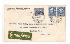 HH65 1937 Colombia Medellin COVER GB Londra {samwells-copre} PTS