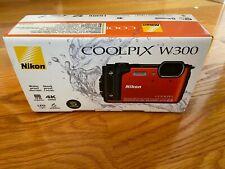 Nikon COOLPIX W300 16.0MP Digital Camera Bundle - Orange
