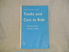 vintage 1964 Pedal Trucks Cars to Ride kid's children's reading learning book