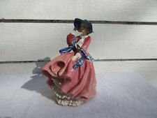 Vintage Victorian Royal Doulton Top Of The Hill Pink Dress Lady Figurine