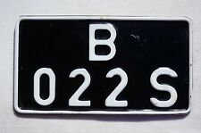 BELGIUM FORCES IN GERMANY MOTORCYCLE License Plate