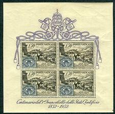 1952 Vaticano Foglietto numero 1 nuovo ** MNH spl