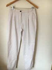 H&M Cotton Natural Size 10 Chino Capri Trousers <T5315