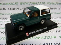 voiture 1/43 AUTOPLUS IXO : 4X4 NISSAN Patrol 1984 vert et blanc