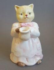 """Novelty Cat Teapot Ceramic Collector Tea Pot 6"""" tall Damaged :S4"""