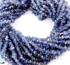"2 Strands Tanzanite Smooth Freeform Uncut Nuggets Chips Unshape Beads 34""Inch"