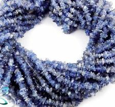 "Full 34"" Long Strands Tanzanite Chips Smooth Freeform Uncut Nuggets Beads"
