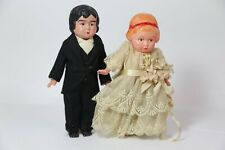 Celluloid Bride and Groom Wedding Cake Topper Rare
