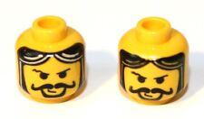 grauem Auge und Bart-Stoppeln 3626bpx72 NEU Gelb 2x LEGO® Kopf mit Augenklappe