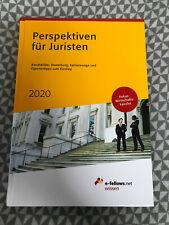 Perspektiven für Juristen 2020, neu | Michael Hies | Buch | e-fellows.net wissen