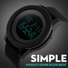 Sport Mens 5ATM Waterproof Led Digital Watch Alarm Bubber Shock Wrist Watches