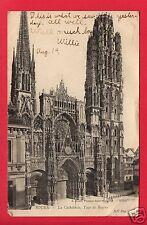 ROUEN FRANCE CATHEDRAL TOUR DE BEURRE1905  HAUGHWOUT FALL RIVER MASS   POSTCARD