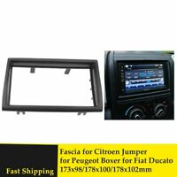 Double Din Car Radio Fascia for Peugeot Boxer Citroen Jumper Fiat Ducato 2006+