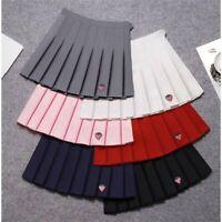 Women Girl Mini Skirt Embroidery Preppy Style Harajuku Lolita Uniform