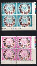 Philippines 1035 - 1036 - Unicef. Plat Block Of 4.  MNH. OG. #02 PHIL1036s2PB4