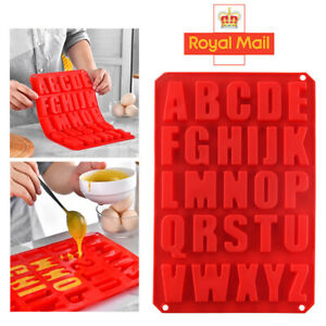Alphabet Letter Ice Chocolate Silicone Mould Stencil Cake Jelly Cupcake Mold UK
