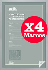 Pack de 4 Marco Maxi Poster Plata 61 x 91.5cm