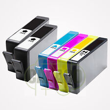 6 PK Ink 564XL replacement for HP 564XL BK + CLR *NEW* With CHIP-Shows Ink Level